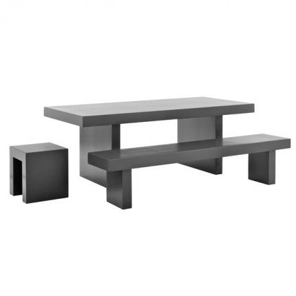 Tables de jardin mati re avantages et inconv nients - Table jardin beton ...