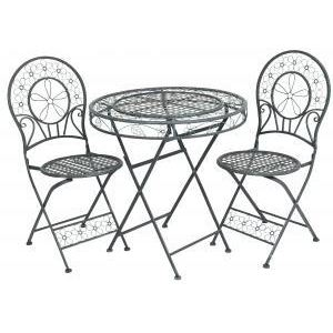 Tables de jardin mati re avantages et inconv nients for Table de jardin ronde en fer