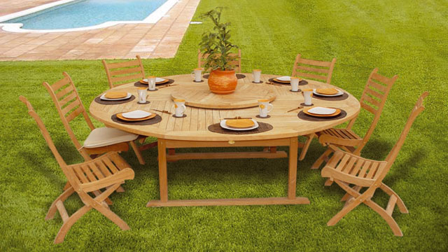 Tables de jardin mati re avantages et inconv nients - Table teck jardin ...