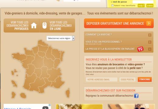 Débarrachezmoi.fr : cherchez ou déposez une annonce gratuite de vide grenier à domicile !