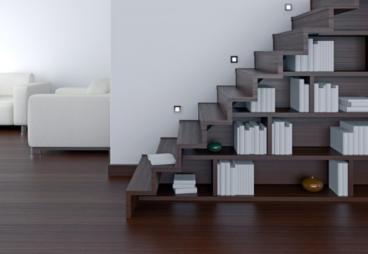 Une idée déco d'aménagement sous escalier