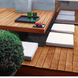 Terrasse bois avec lasure